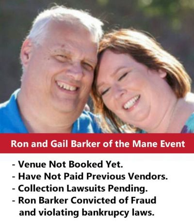 Ron Barker of Mane Event Expo Fails to Pay Vendors, Convicted of Fraud, Violates Bankruptcy Laws