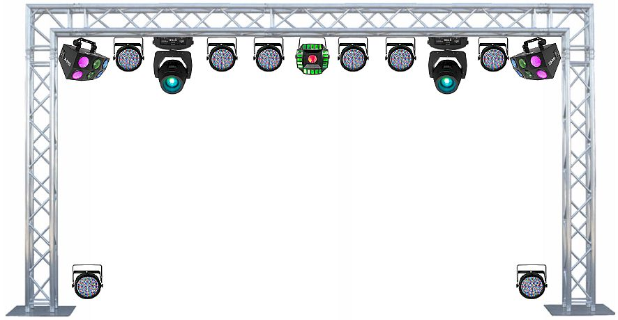 Click To Enlarge Image 05 Ultimate Dj Dance Light Truss 10x20 Foot