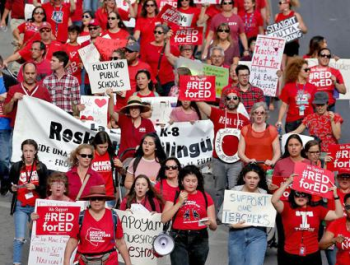 RedForEd Rally Arizona State Capitol Protest March Phoenix AZ Sound System Stage