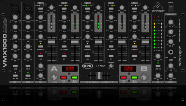 Rent Behringer VMX1000 Powered USB Pro Disc Jockey DJ Mixer