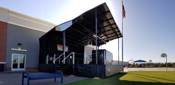 Portable Festival Stage Rental | Mobile Trailer Stage Rental
