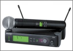Rent Shure SLX2/SM58 Wireless Handheld Microphones Phoenix Arizona AZ