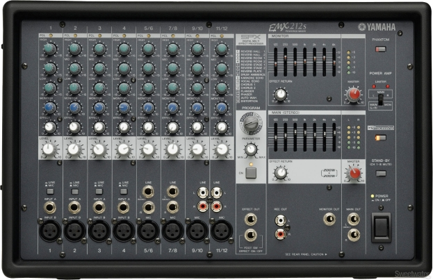 Rent the Yamaha EMX62M 6-Channel Powered Mixer